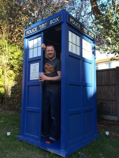 Ben in his Tardis